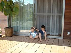 福岡県福岡市城南区 K様邸 ウッドデッキ施工例